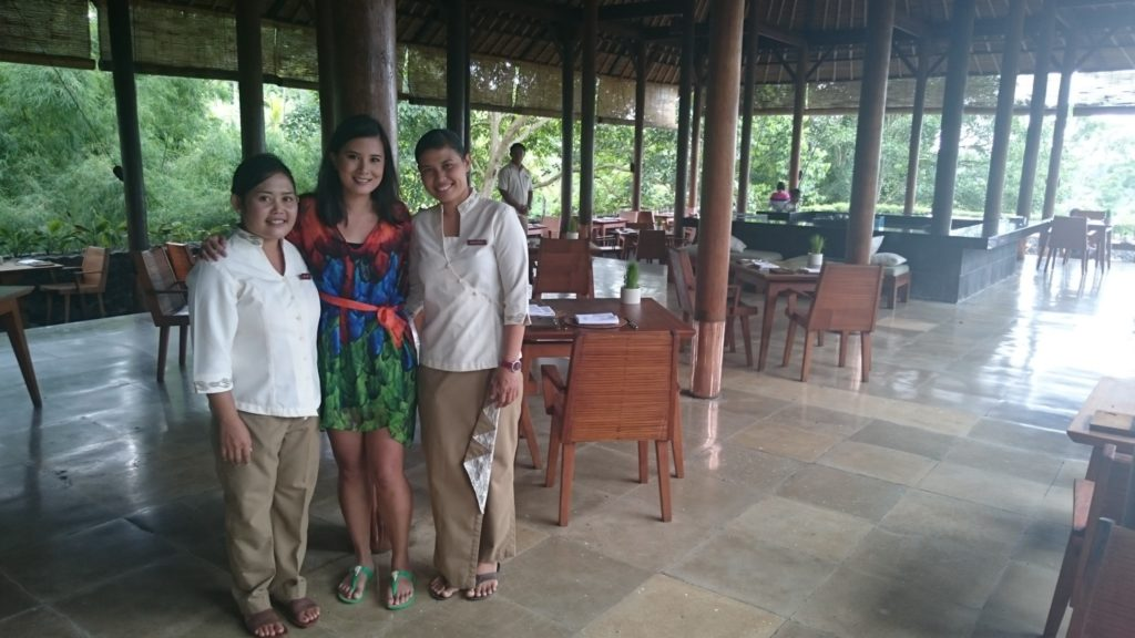 With Widi and Marianti from Plantation Restaurant, Alila Ubud