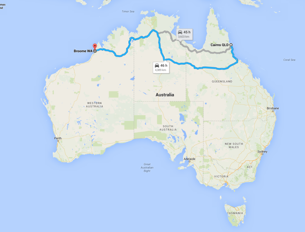 Cairns to Broome Road Trip