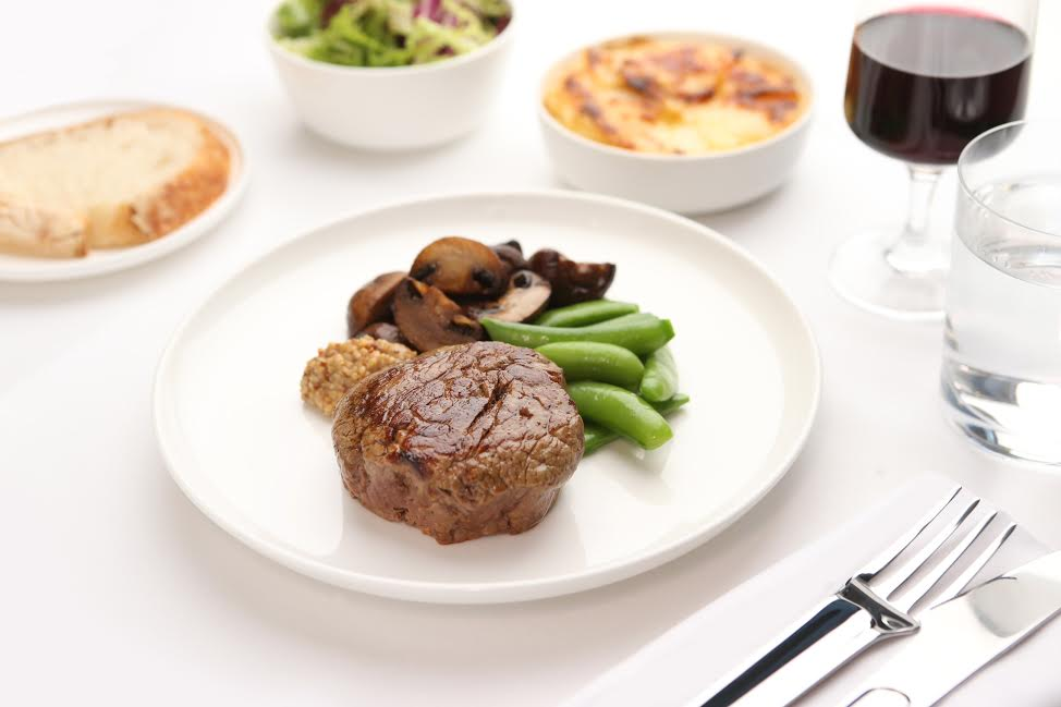 Rockpool Bar & Grill style Cape Grim Beef Fillet with Jerusalem Artichoke Gratin, Garlic Mushrooms and Horseradish Relish