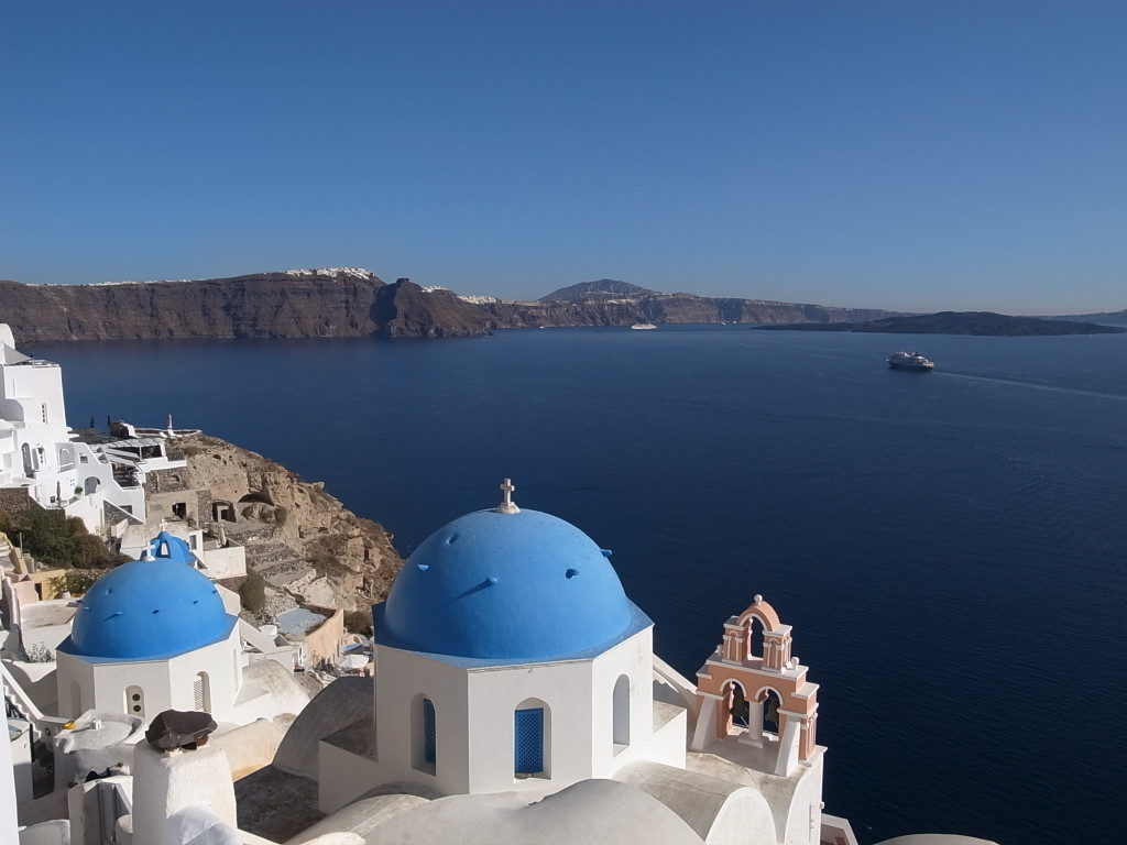 Santorini. Photograph by Maggie Meng