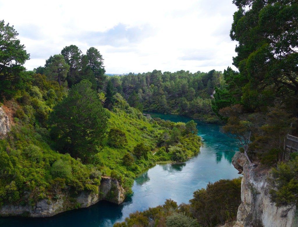 Taupo, home to amazing sights. A part of The Hobbit was shot in this river.