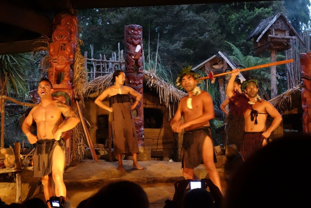 Mitai Maori Village performers show us various dances, among them the Haka