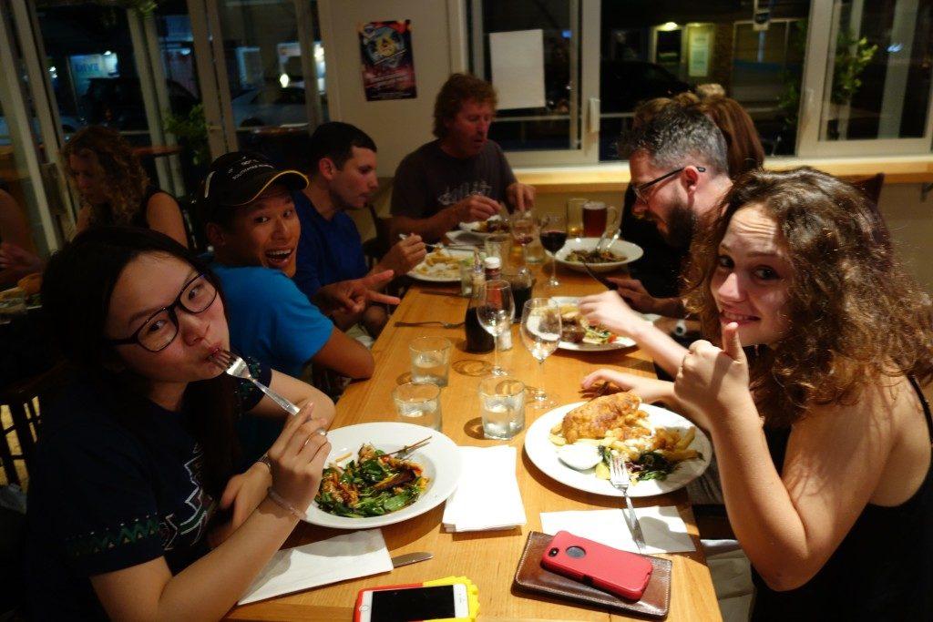 Last dinner in Coromandel