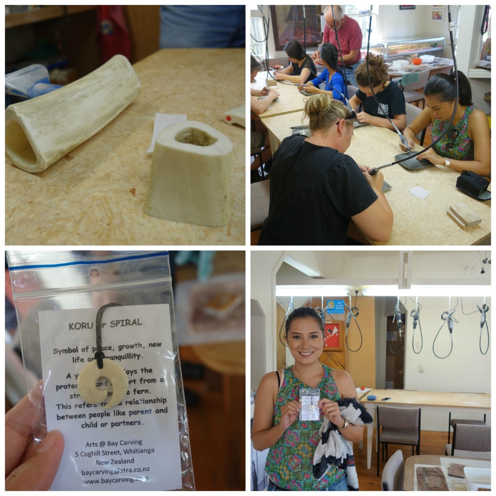 Bone Carving Session. Day 7 of Haka Tours North Island Tour