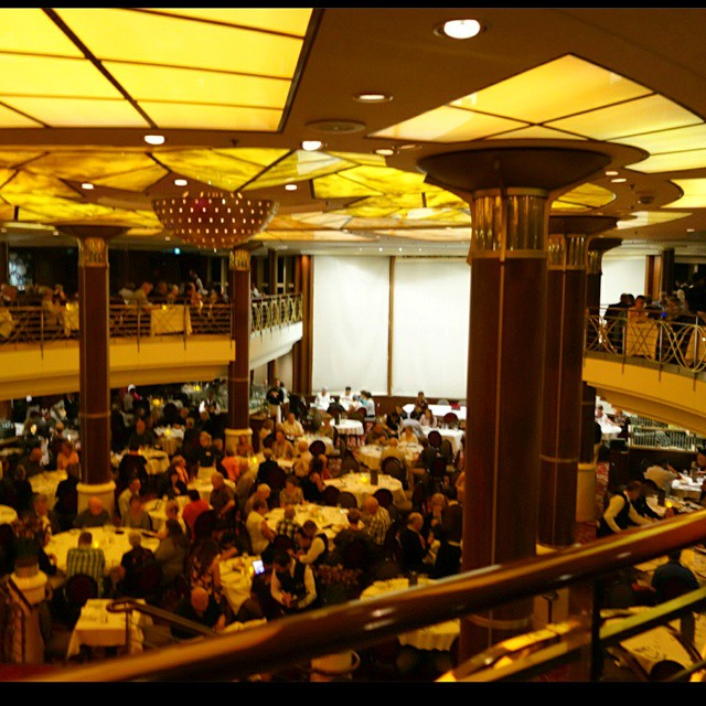 San Marco Restaurant at the Celebrity Constellation. Sit down formal dinner