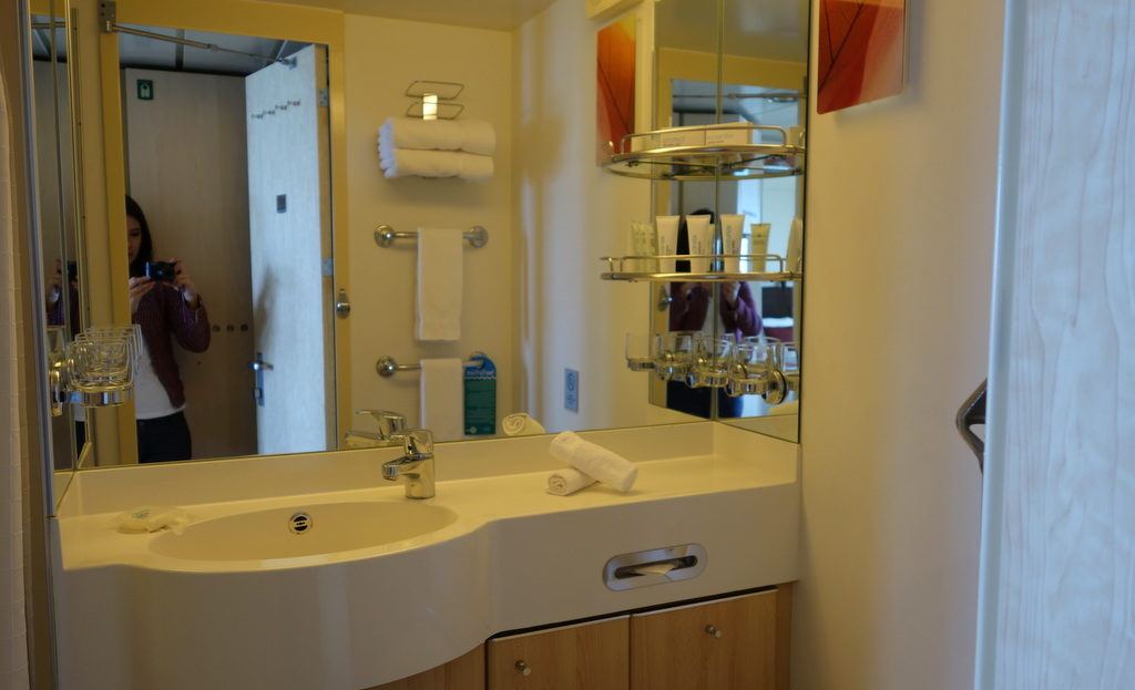 Bathroom of a Veranda Stateroom. Celebrity Constellation
