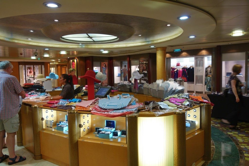 Shopping at Celebrity Constellation