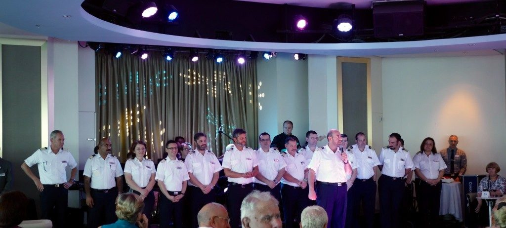 Captain Nikolas Christodoulakis of Celebrity Constellation introduces his officers