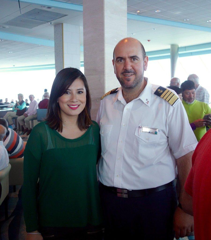 photo op with Celebrity Cruises' Captain Nikolas Christodoulakis