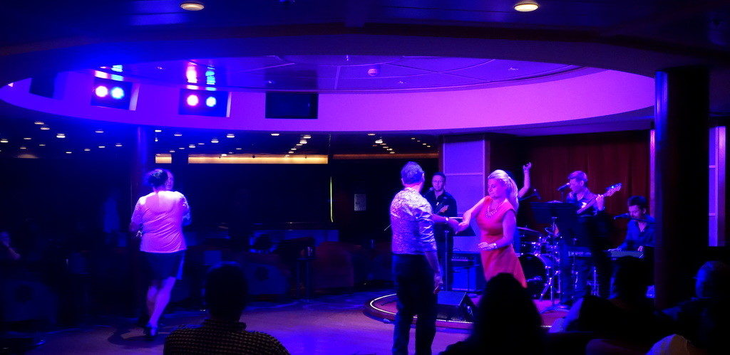 Dancing at Rendez-vous. Celebrity Constellation