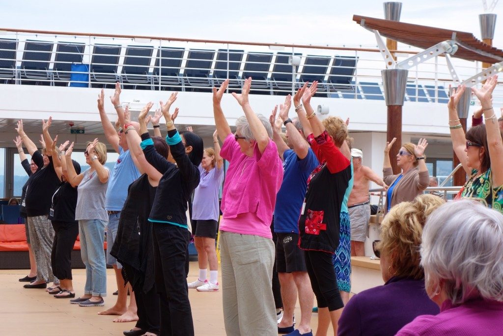 guests of Celebrity Constellation learning the Haka