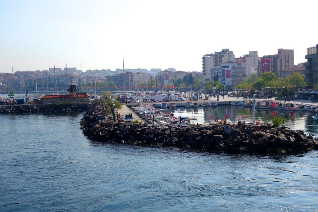 leaving the Asian side of Canakkale