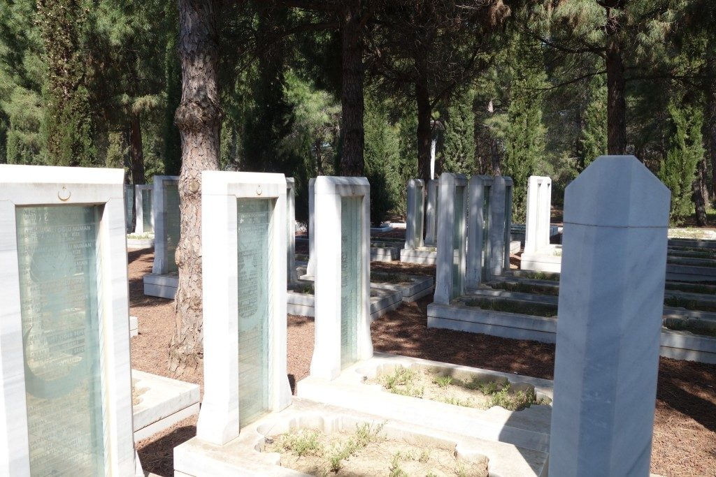 Turkish soldiers laid and remembered at the Canakkale Martyrs Memorial