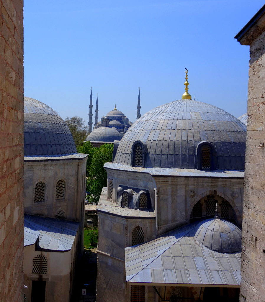 View of the Blue Mosque from Hagia Sophia