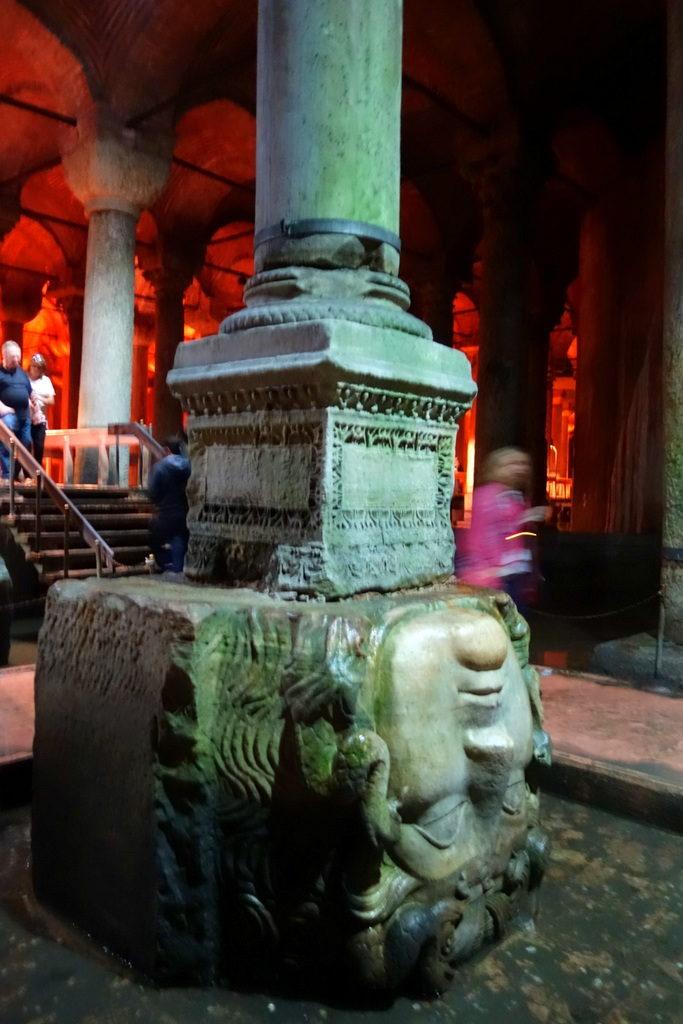 Medusa's head. Basilica Cistern Istanbul