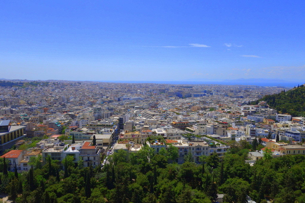 View from top of the Acropolis: Athens from above