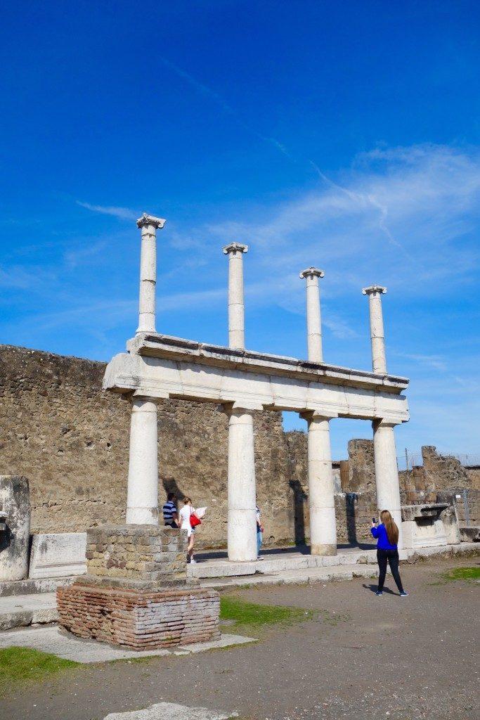 Part of the Forum in Pompeii