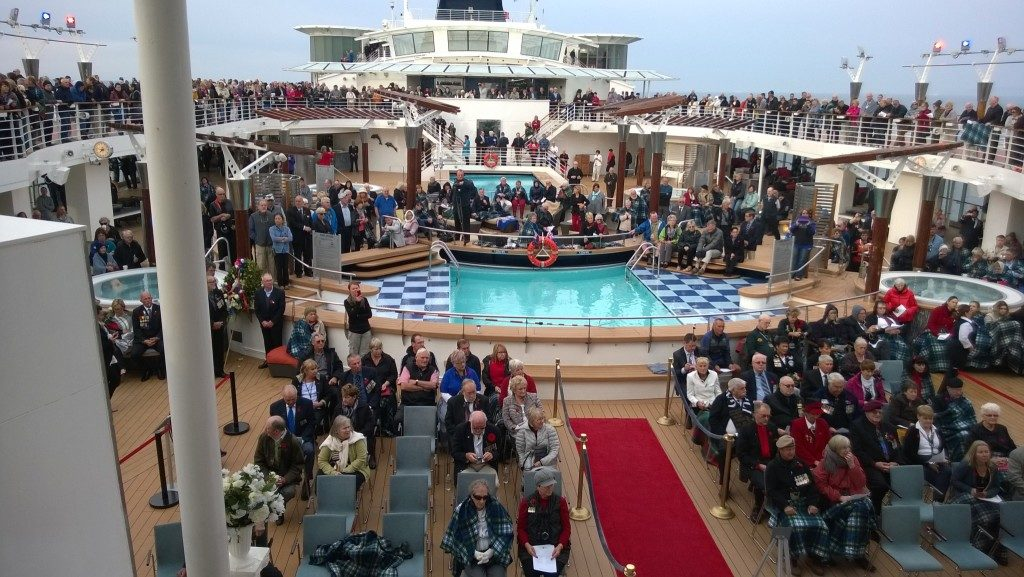 ANZAC Ceremony at the Celebrity Constellation Poolside