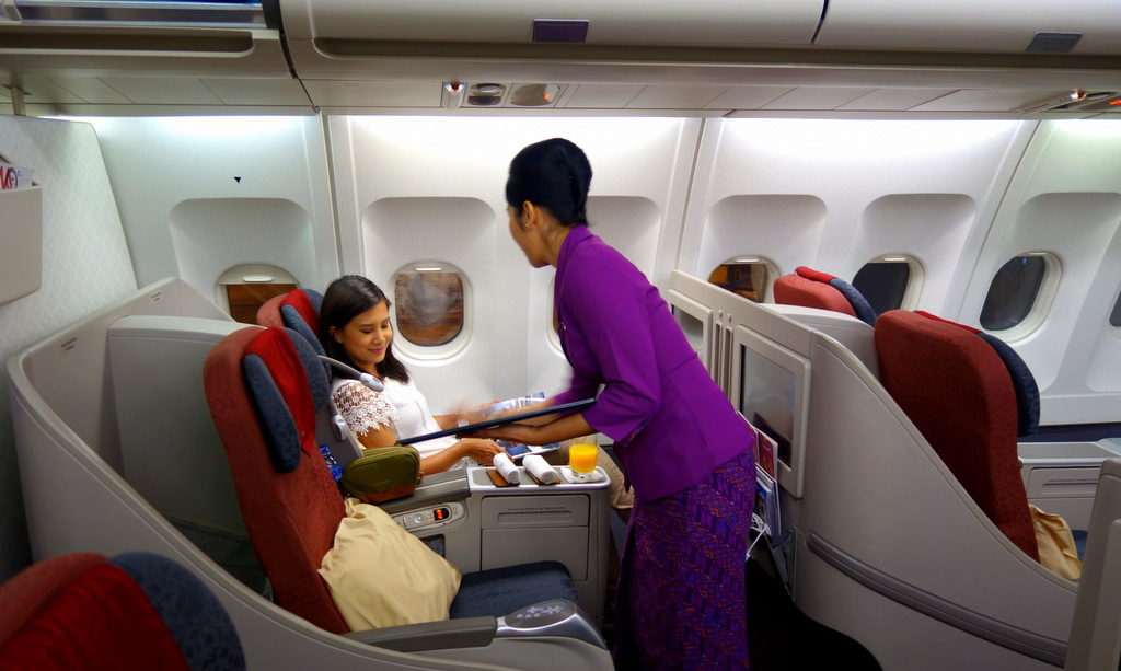 Warm greeting and arrival. Garuda Indonesia GA 714 Denpasar to Sydney