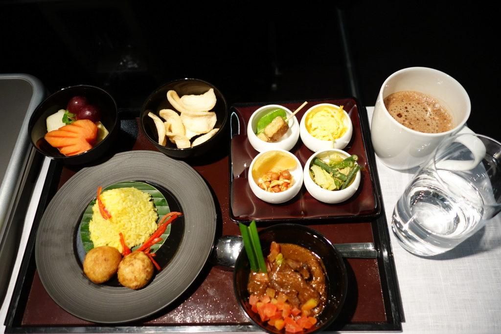 Indonesian Breakfast. Garuda Indonesia GA 714 Business Class Denpasar to Sydney