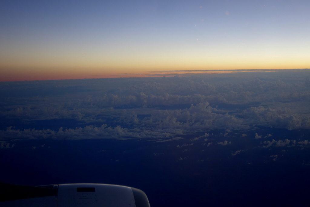 flight descent into Sydney Garuda Indonesia GA 714 Business Class Denpasar to Sydney