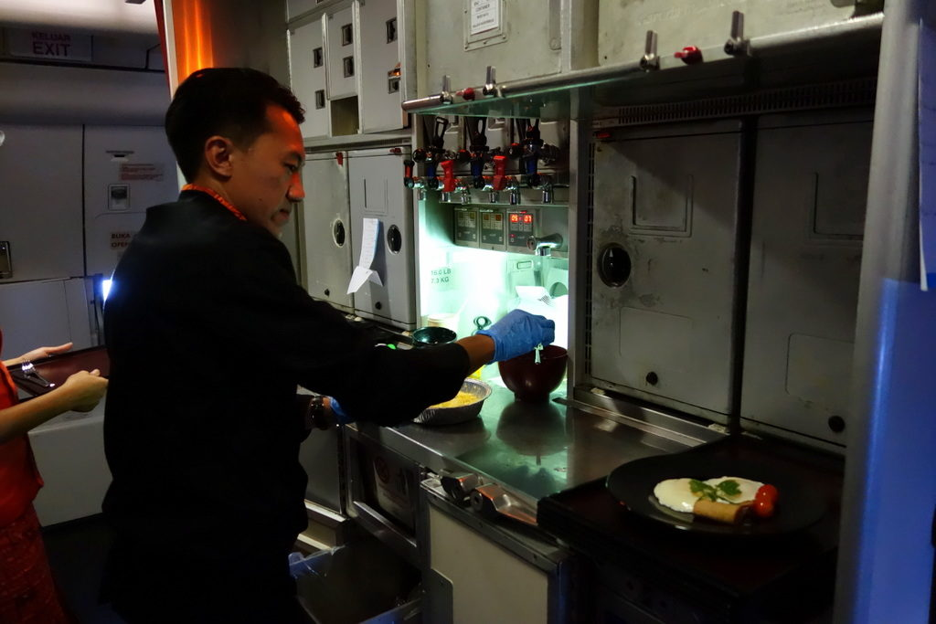 Garuda Indonesia's Chef On Board in action