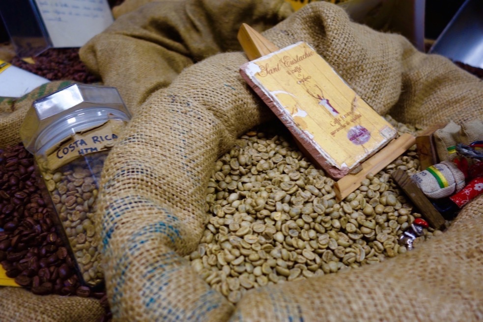 Coffee beans from Cafe Sant Eustachio