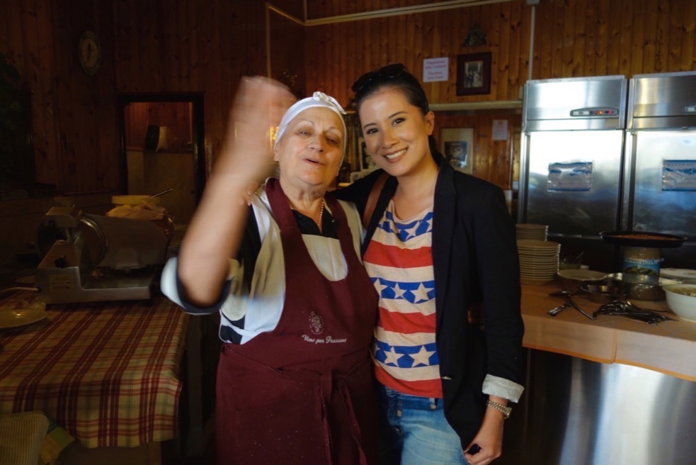 With Nonna Paola from Trattoria der Pallaro. Walking food tour with The Roman Guy