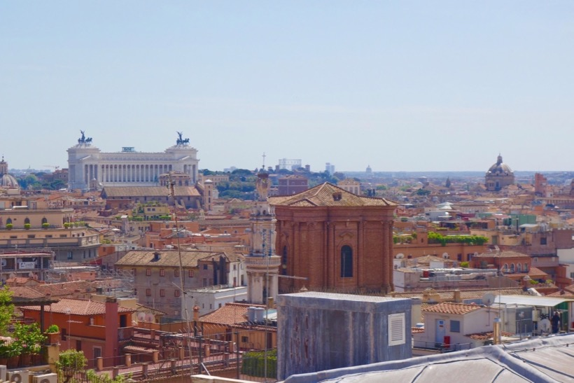 View from the rooftop of Intercontinental de la Ville Roma