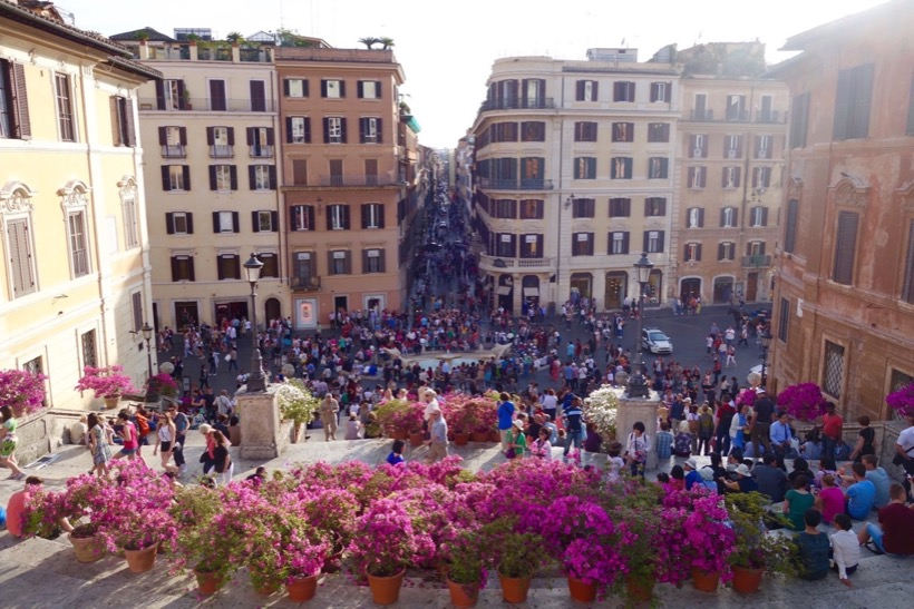 The Spanish Steps - a few steps away from Intercontinental De La Ville Roma