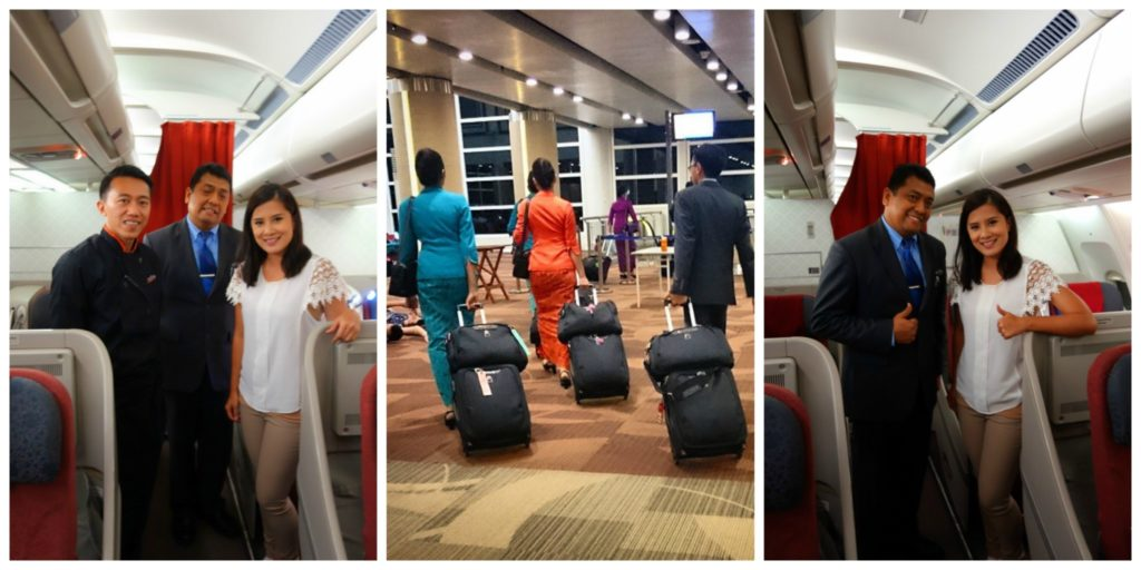 The warm and friendly staff of GA 714 Garuda Indonesia Denpasar to Sydney Business Class