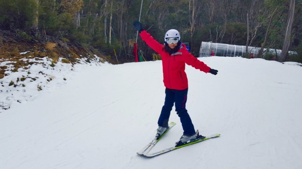 much more confident in skiing. day 3