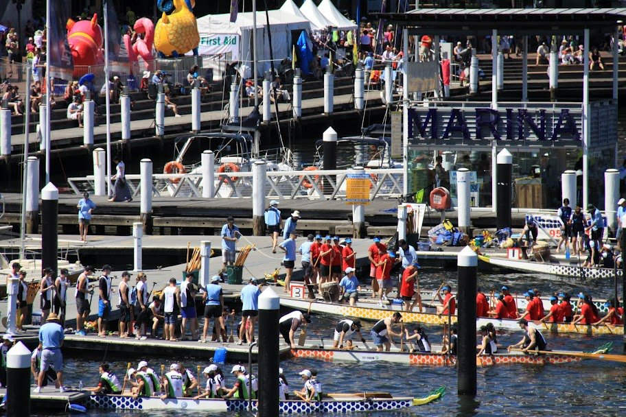Sydney Darling Harbour hosts  the Chinese New Year Dragon Boat festival