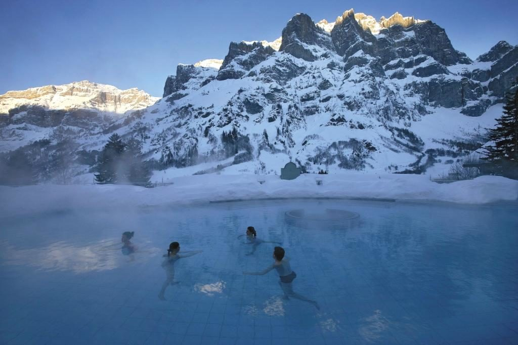Lindner Hotel Alpentherme - Leukerbad. Photo from Albatross Tours