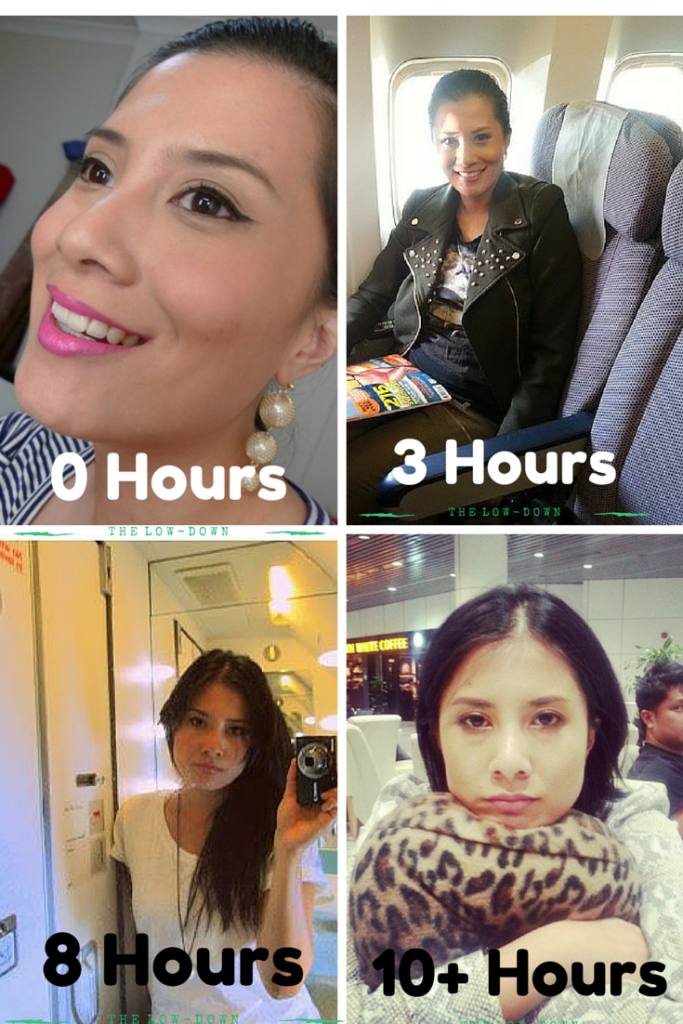 The journey of my face during long haul flights