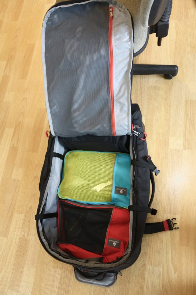 How to Pack with Packing Cubes: All heavy items at the bottom