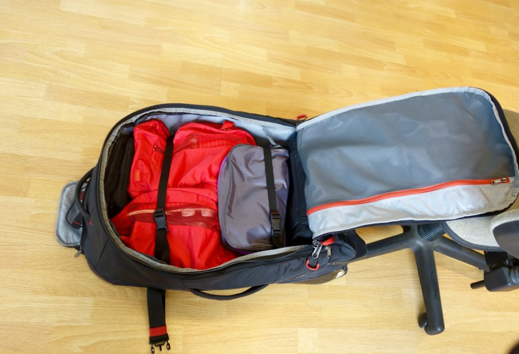 How to Pack with Packing Cubes: wonky shapes go last