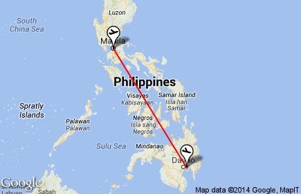 Manila to Davao