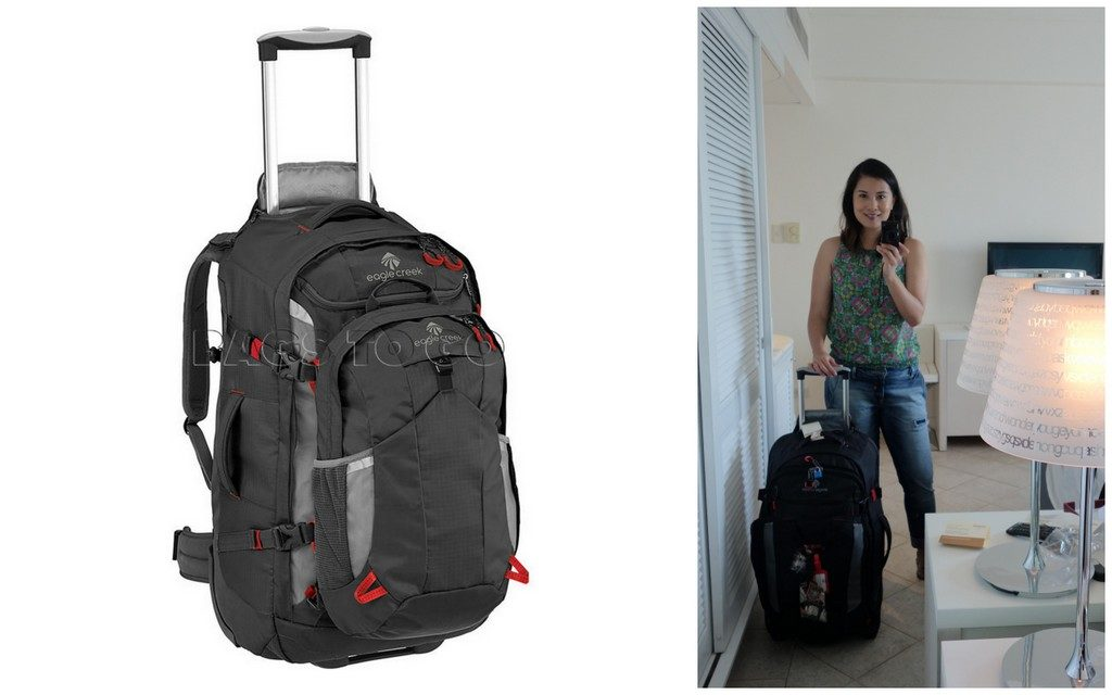 Not quite a backpack, but rugged enough! The Eagle Creek Double Wheeled Backpack