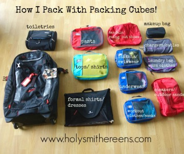 How I Pack with Packing Cubes, Eagle Creek Load Warrior 28 Review, AND a Giveaway!