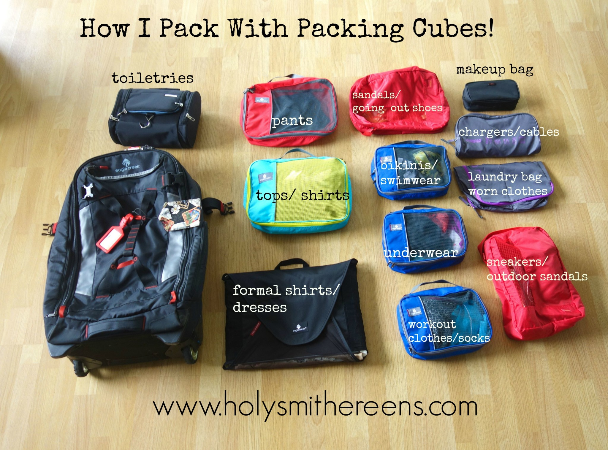 How i pack with packing cubes eagle creek load warrior 28 How to pack a carry on suitcase video