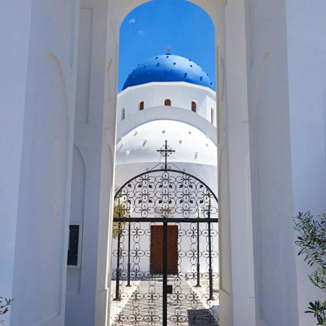 Church of Kamari in Santorini
