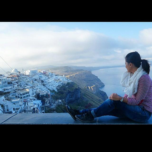 Morning has broken over Santorini