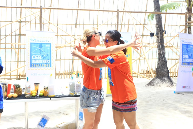 Team Australia winning the bartending challenge in Boracay!