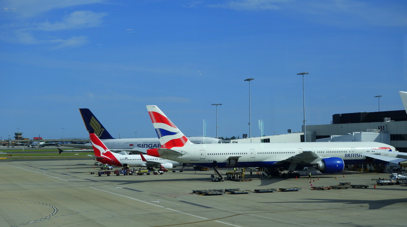British Airways BA 16 Sydney to London on Club World Business Class B777-300