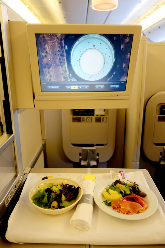 In-Flight Meal. British Airways Club World (Business Class) BA 16 Sydney to London via Singapore