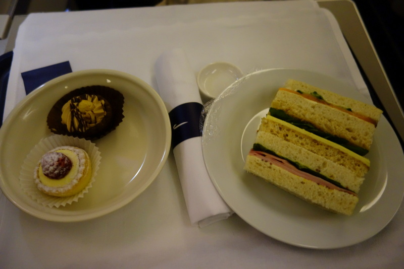British Airways' Club World Afternoon Tea BA 16 Sydney to London via Singapore