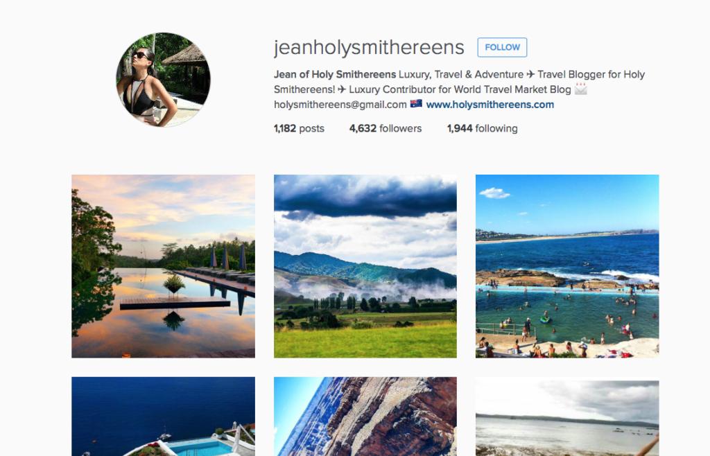 Follow me on Instagram @jeanholysmithereens