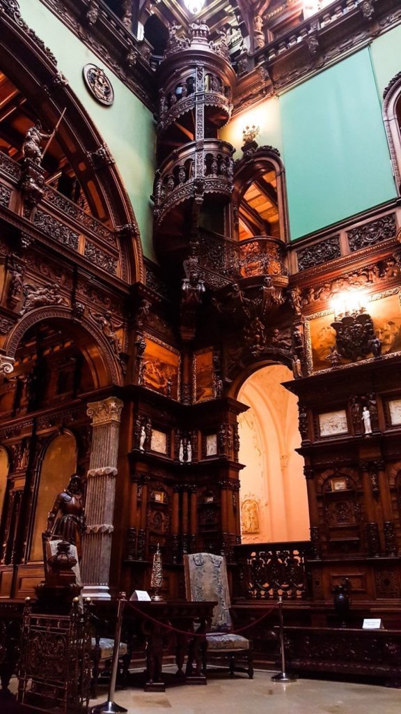 The interior of Peles Castle, Romania