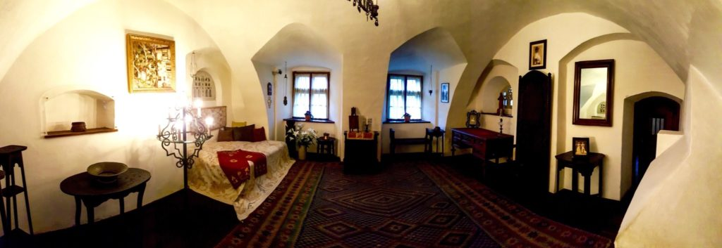The interiors of Bran Castle